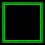 Картина рамки картинной рамки деревянная высекаенная изолированная на задней части черноты Стоковое Фото