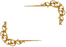 Картина рамки металла золота Стоковое Изображение RF
