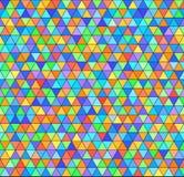 Картина радуги треугольника Предпосылка безшовного вектора красочная иллюстрация вектора