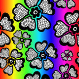 Картина радуги флористическая безшовная с градиентом также вектор иллюстрации притяжки corel Стоковые Изображения