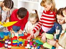 Картина ребенка на художественном училище. Стоковая Фотография RF