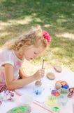 Картина ребенка облицовывает outdoors стоковое фото
