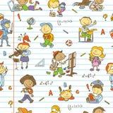 Картина ребеят школьного возраста Стоковое Изображение RF