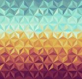 Картина ретро битников геометрическая. Стоковые Изображения