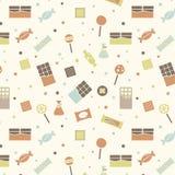 Картина ретро конфеты вектора безшовная Иллюстрация штока