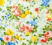 Картина ретро шнурка флористическая безшовная на предпосылке ткани Стоковое Изображение