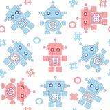 Картина роботов безшовная бесплатная иллюстрация