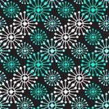 картина рождества безшовная Геометрическая текстура с голубыми и белыми снежинками Абстрактная бесконечная предпосылка вектор тех Стоковые Фото