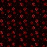 Картина рождества безшовная красных снежинок на черном eps 10 бесплатная иллюстрация