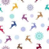 картина рождества безшовная Символы Кристмас также вектор иллюстрации притяжки corel Стоковое фото RF