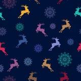 картина рождества безшовная Символы Кристмас также вектор иллюстрации притяжки corel иллюстрация штока