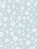 Картина рождества безшовная с предпосылкой snowflakeson голубой, v Стоковые Изображения