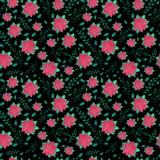 Картина рождества безшовная с цветками Стоковые Изображения RF