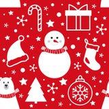 Картина рождества безшовная форм простой руки вычерченных белых дальше иллюстрация вектора