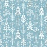 Картина рождества зимы безшовная для бумаги дизайна упаковывая, открытки, тканей Стоковое Изображение RF