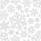 Картина рождества от снежинок для вектора карточки Для книжка-раскраски Нарисованный вручную doodle декоративный черная белизна к бесплатная иллюстрация