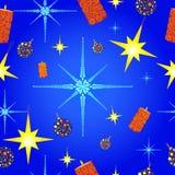 картина рождества со снежинками иллюстрация вектора