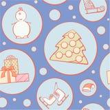 Картина рождества иллюстрация вектора