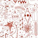Картина рождества Doodle Стоковое Изображение