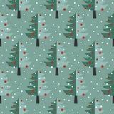 Картина рождественских елок безшовная иллюстрация штока