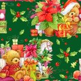 картина рождества безшовная медведь милый Стоковая Фотография RF