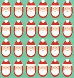 Картина рождества безшовная Санта Клауса бесплатная иллюстрация