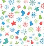 Картина рождества безшовная с традиционным Стоковые Изображения RF