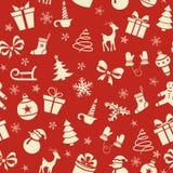 Картина рождества безшовная Стоковое Фото