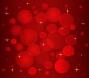 Картина рождества в красном цвете Иллюстрация штока