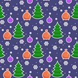 Картина рождества Ель, сумка с подарками, украшениями Стоковое фото RF