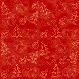 Картина рождества опирающийся на определённую тему безшовная Стоковые Фотографии RF