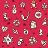 Картина рождества пряников иллюстрация вектора