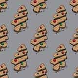 Картина рождества с печеньями пряника Стоковое Изображение