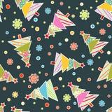 Картина рождества шаблона безшовная, вектор бесплатная иллюстрация