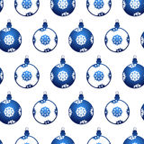 картина рождества шариков безшовная Стоковое Изображение RF