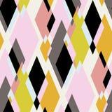 Картина розового вектора косоугольника безшовная бесплатная иллюстрация