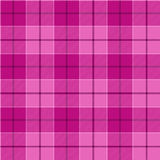 Картина розового тартана безшовная Иллюстрация вектора