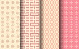 Картина розового цвета безшовная конструируйте график Стоковое Изображение RF