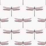 Картина розового dragonfly безшовная Стоковые Изображения