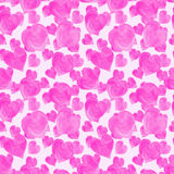 Картина розовых сердец акварели безшовная стоковая фотография rf