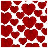 Картина роз в форме сердец Стоковое фото RF