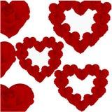Картина роз в форме сердец Стоковые Фото