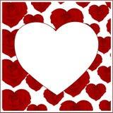 Картина роз с белым сердцем в центре Стоковое Фото