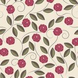 Картина роз doodle Стоковые Изображения