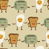 Картина друзей завтрака Стоковые Фотографии RF