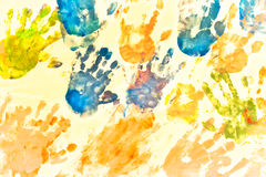 Картина руки детей Стоковое Изображение RF