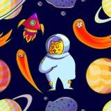Картина руки космоса вычерченная безшовная стоковые изображения rf