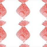 Картина рыб акварели орнаментальная Стоковые Изображения RF
