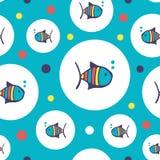 Картина рыб вектора безшовная Стоковое Изображение RF