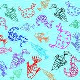 Картина рыб шаржа Стоковая Фотография RF